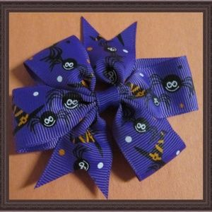 Handmade Halloween Hair Bow Clip For Girls
